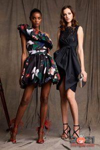 Модное черное платье осень-зима 2020-2021