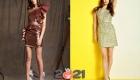 Короткое облегающее коктейльное платье осень-зима 2020-2021