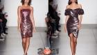 Блестящие коктейльные платья осень-зима 2020-2021