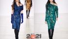 Модные платья осень-зима 2020-2021 с блестящими принтами