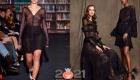 Черное прозрачное платье на 2021 год