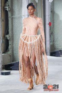 Нитяное платье с каркасной юбкой от Area осень-зима 2020-2021