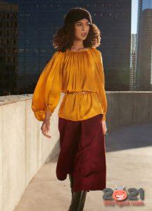 Модные цвета блуз на 2021 год