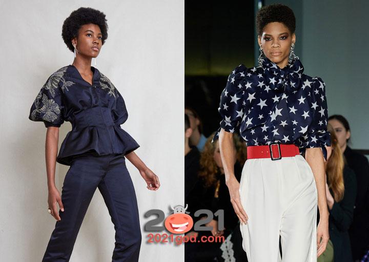 Модные блузы осень-зима 2020-2021 с короткими рукавами