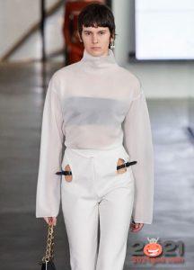 Модная прозрачная блуза сезона осень-зима 2020-2021