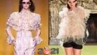 Модные блузки с рюшами и воланами сезона осень-зима 2020-2021