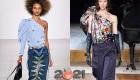 модные модели асимметричных блуз на 2021 год