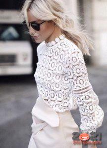 Модные ажурные блузы на 2021 год