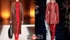 Кожаные пальто сезона осень-зима 2020-2021