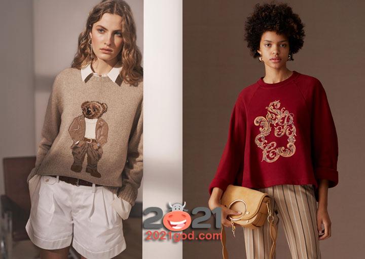 Свитер с аппликацией - модный тренд сезона осень-зима 2020-2021