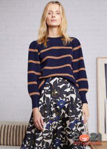 Модный полосатый свитер осень-зима 2020-2021