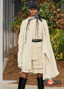 Модные асимметричные свитера сезона осень-зима 2020-2021