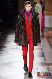 Красный мужской костюм осень-зима 2020-2021