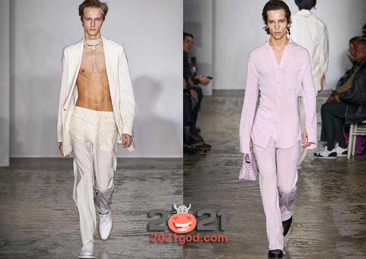 Модные белые костюмы - мужская мода осень-зима 2020-2021