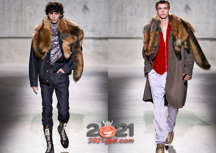 Модные меховые воротники - мужская мода осень-зима 2020-2021