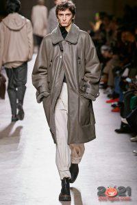 Кожаное пальто - тренд мужской моды сезона осень-зима 2020-2021