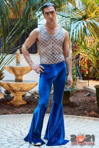 Бархатные мужские брюки осень-зима 2020-2021