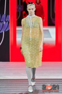 Новогоднее платье на 2021 год золотого цвета