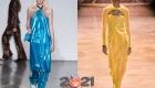 Блестящие цветные платья на Новый 2021 год