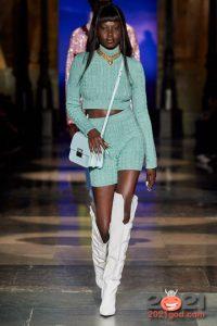Модные вязаные шорты на 2021 год