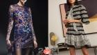 Короткое блестящее платье с рисунком на Новый Год 2021
