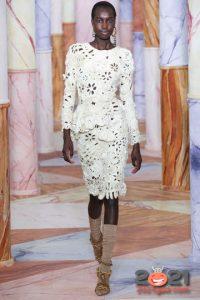 Вязаное платье на новый Год 2021 от Ulla Johnson