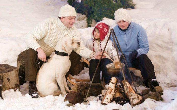 Зимний пикник с семьей