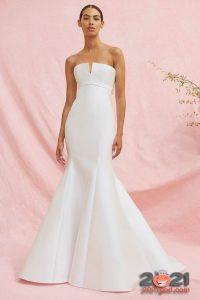 Свадебное платье русалка Carolina Herrera осень-зима 2020-2021