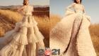 Пышное платье с рюшами от Zuhair Murad осень-зима 2020-2021