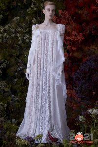 Свадебное платье ретро осень-зима 2020-2021