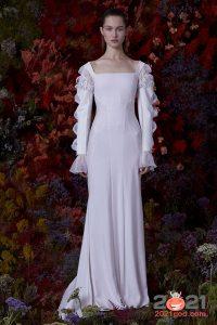 Красивое свадебное платье осень-зима 2020-2021