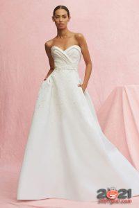 Модные оттенки свадебного платья на 2021 год