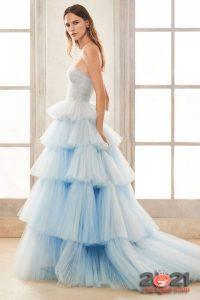 Модные цветные оттенки свадебного платья на 2021 год