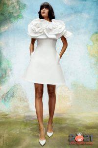 Короткое свадебное платье сезона осень-зима 2020-2021