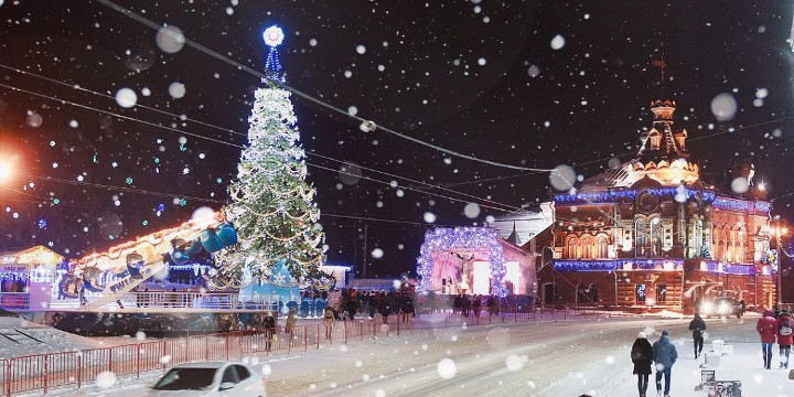 новогодняя елка во владимире