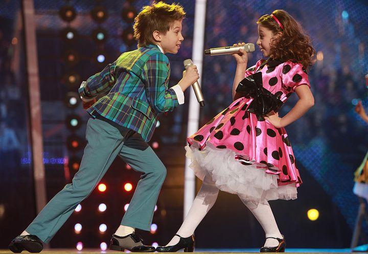 Дети на вокальном конкурсе
