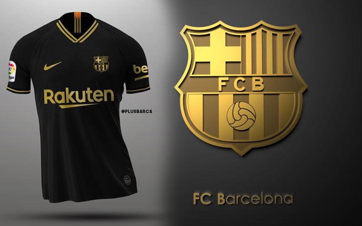Выездной (дополнительный) комплект формы ФК Барселона на 2020-2021 год