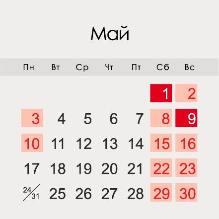 Майские праздники: даты