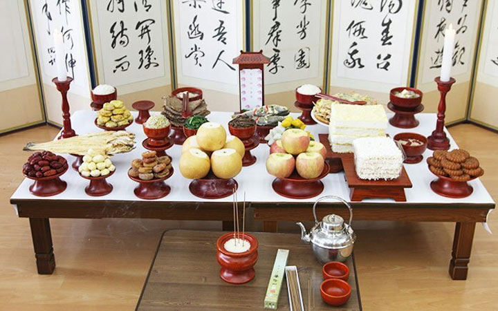 Новогодний стол в Южной Корее