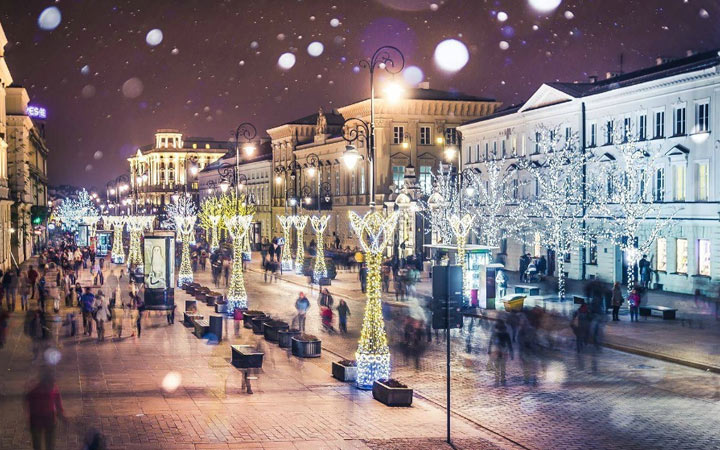 Новый Год 2021 в Варшаве
