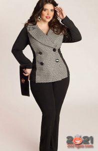 Модные деловые костюмы для полных женщин на 2020-2021 год
