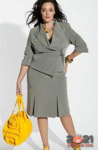 Модные деловые образы для полных женщин на 2020-2021 год