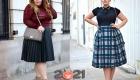 Модные пышные  юбки для полных женщин на 2020-2021 год