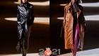 Женские кожаные плащи - модные модели 2020-2021 года