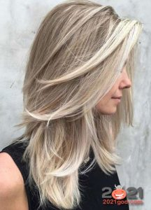 Каскад на светлые волосы в 2021 году