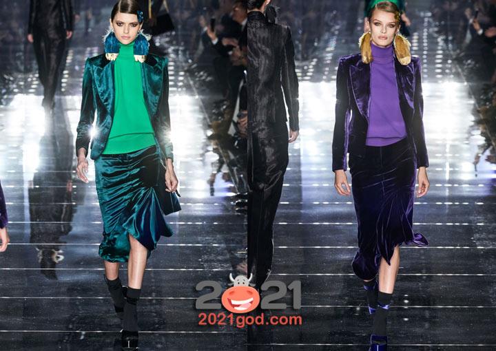 Модные атласные жакеты сезона осень-зима 2020-2021