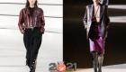 Модный кожаный жакет марсала осень-зима 2020-2021