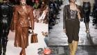 Стильный кожаный жакет мода сезона осень-зима 2020-2021