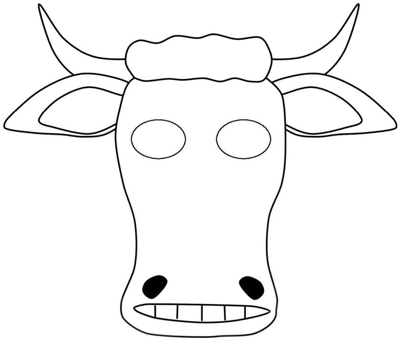 Шаблон маски Быка