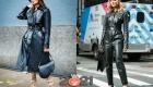 Уличная мода осень-зима 2020-2021 - кожаные луки